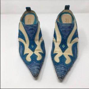 Rare Vintage Alexander McQueen Western Mules Shoes